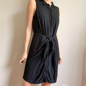 Michael Kors Black Button Down Knotted Dress 10